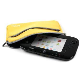 Funda Protectora Amarilla Limón Para Consola WiiU - Con Bolsillo Externo Y Cuerda De Quita Y Pon - Hecha En Neopreno De Alta Calidad Por DURAGADGET