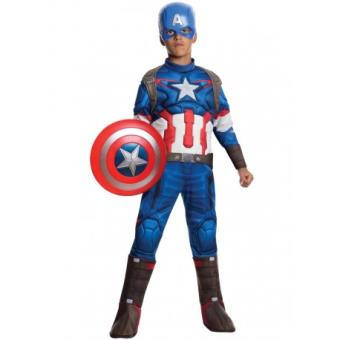 Disfraz Capitán América Vengadores: La Era de Ultrón deluxe para niño Original - Talla - 8-10 años