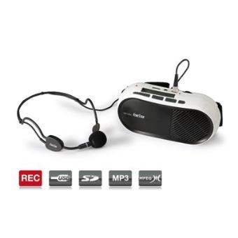 Amplificador para Cintura con micrófono, de 10W con USB - SD - MP3, de gran alcance, muy ligero