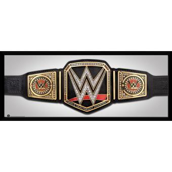 Fotografía enmarcada WWE Cinturón  30x75 cm