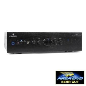 Auna CD708 Amplificador estéreo HiFi AUX 600W negro