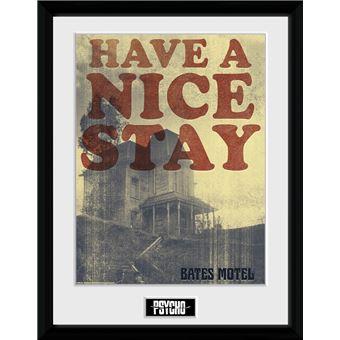 Fotografía Enmarcada Psycho Have a Nice Stay