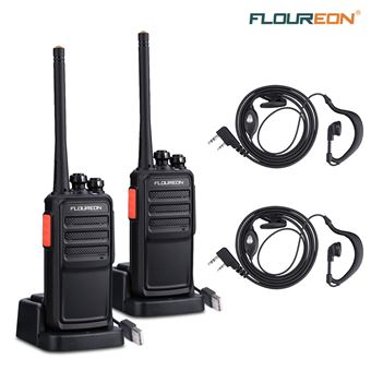 Walkie-Talkie Floureon A5 16 canales recargable PMR 446MHz receptor de mano - 2pcs