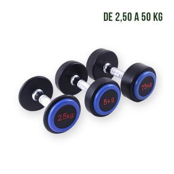 Mancuerna de goma-tapa azul, peso: 42,5 kg Afw