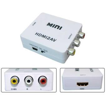 Mini Adaptador Convertidor de HDMI a av con Escalador Conversor Audio Video
