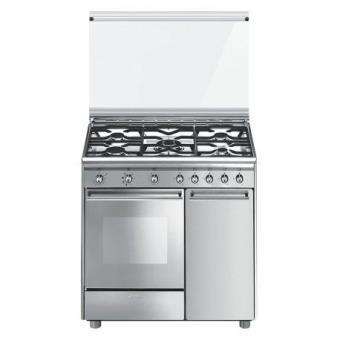 Cocina gas natural smeg cx91m2 horno 5 fuegos cocina los mejores precios fnac - Cocinas a gas natural ...