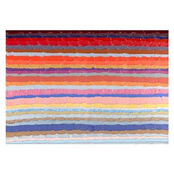Cuadro abstracto líneas de color horizontales. Óleo sobre lienzo (200 x 140 cm) - 50301011444529