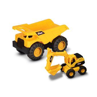 Camión Volquete + Retroexcavadora Nikko Toys Building Machine team
