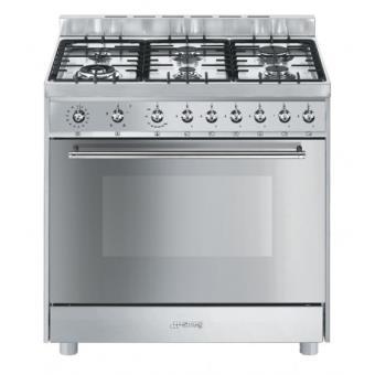 Cocina gas natural smeg c91gmxi9 horno 6 fuegos cocina for Cocinas a gas precios