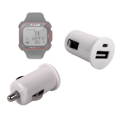 Adaptador De Coche Con Puerto USB Para Reloj Polar RC3 GPS Bike  Por DURAGADGET