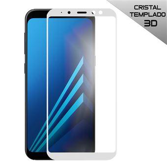 Cristal Templado Cool para Samsung A530 Galaxy A8, 2018, FULL 3D Blanco