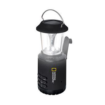 Linterna solar de camping con radio y powerbank National Geographic