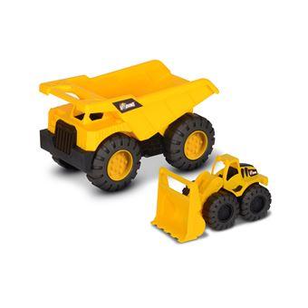 Camión Volquete + Pala cargadora Nikko Toys Building Machine team