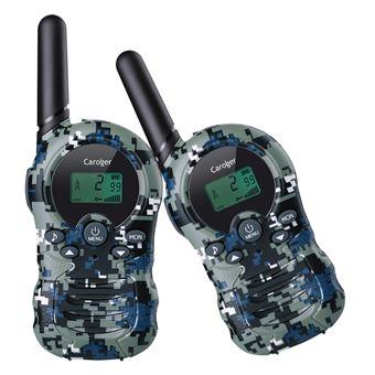 Walkie-Talkies (2 paquetes) Interfaz de mano de 8 canales con radio bidireccional para niños Camuflaje