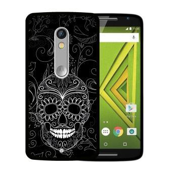 1a7ac0d8bf2 Funda Motorola Moto X Play, WoowCase Funda Silicona Gel Flexible Calavera  de Azúcar Negra, Carcasa Case - Negro - Fundas y carcasas para teléfono  móvil ...