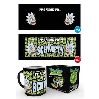 Taza mágica Reactiva Rick y Morty Get Schwifty