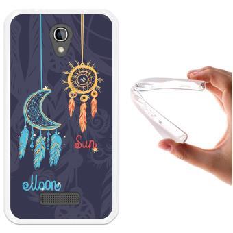 e62c0306ce8 WoowCase - Funda Gel Flexible [ Alcatel One Touch Flash Mini ] Atrapasueños  La Luna y El Sol Carcasa Case Silicona TPU Suave - Fundas y carcasas para  ...