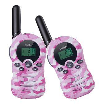 Walkie-Talkies (2 paquetes) Interfaz de mano de 8 canales con radio bidireccional para niños Rosa Camuflaje