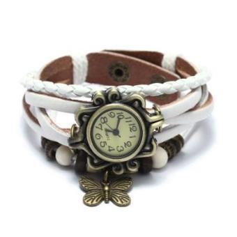 Reloj de Pulsera Cuarzo Cuero Blanco Trenzado Mariposa Retro Para Mujer  Vintage - Reloj Mujer Moda - Los mejores precios  3ca2a30a0f9e