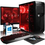 "Gaming PC Vibox - A8-9600, Radeon R7, 8 Gb DDR4 RAM, 2TB HDD, 22"""" HD Écran, Windows 10 Pro"