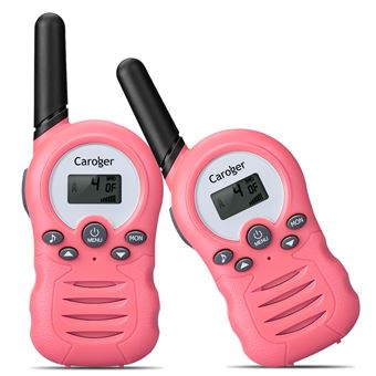 Walkie-Talkies (2 paquetes) Interfaz de mano de 8 canales con radio bidireccional para niños Rosa