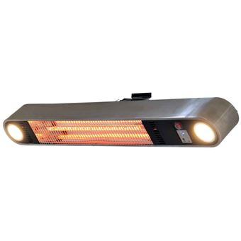 Calentador de patio Qlima, 1500 W Gris PEC3015 S