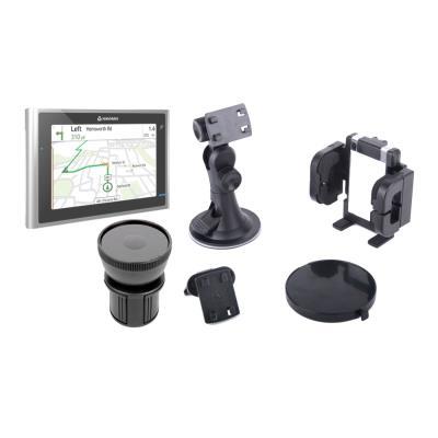 Soporte Abrazadera Regulable Para Navegador GPS Navman Panoramic Con Portavasos Giratorio A Prueba de Movimientos   Por DURAGADGET