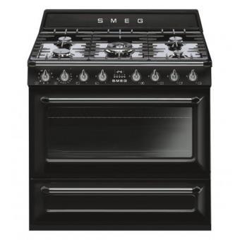Cocina gas natural smeg tr90bl9 horno 90x60 cm cocina for Cocina gas natural con horno