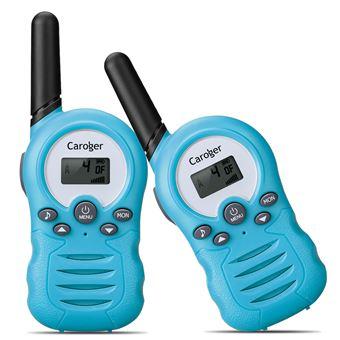 Walkie-Talkies (2 paquetes) Interfaz de mano de 8 canales con radio bidireccional para niños Azul