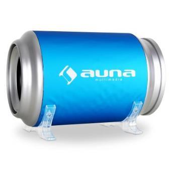 Auna C8-CB200-9A - Sistema de subwoofers en cajones para vehículos de 500W, plateado y azul