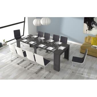 Mesa de Comedor Extensible Ceniza, Modelo Milan, Pequeño mobiliario ...