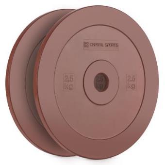 CAPITAL SPORTS Methoder Discos de técnica Discos de peso goma dura amortiguadora 2,5 kg