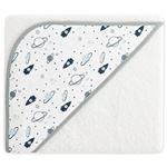 Capa de baño algodón para bebe Pekebaby (100x100 cm) Space Adventure Blanco algodón