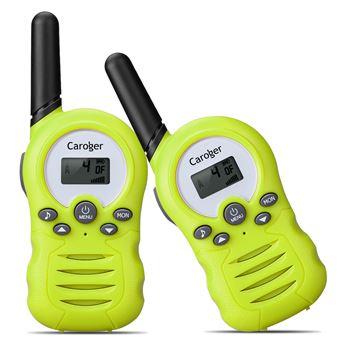 Walkie-Talkies (2 paquetes) Interfaz de mano de 8 canales con radio bidireccional para niños Verde