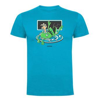 Camiseta manga corta Friking, Modelo 1010 Alien Frog Talla L, Turquesa