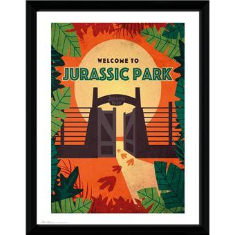 Fotografía Enmarcada Jurassic Park Welcome