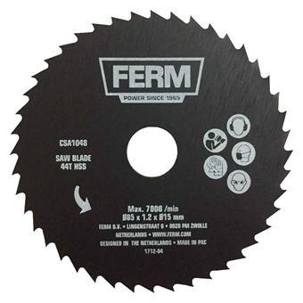 Hoja de Sierra Ferm, de precisión 44T HSS 85 mm CSA1048