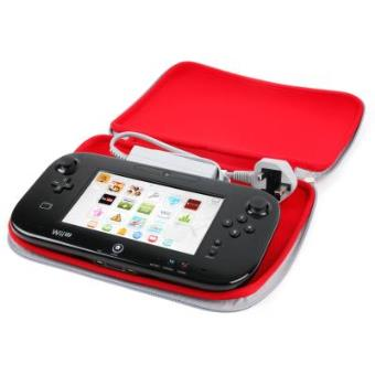 Funda Protectora Roja Para Consola WiiU - Hecha En Neopreno De Alta Calidad Por DURAGADGET