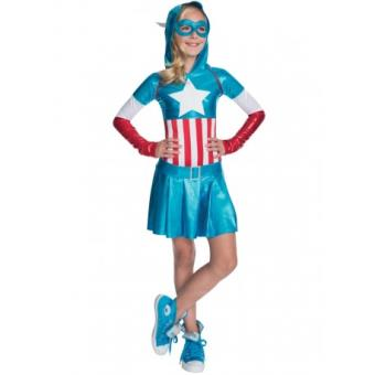 Disfraz Capitán América para niña Original - Talla - 8-10 años