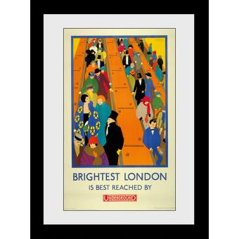 Fotografia enmarcada Transport For London Brightest London 60x80cm