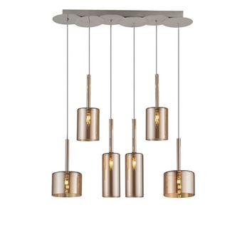 Lámpara de Suspensión Homemania Bibu Miel, 65x14x120 cm