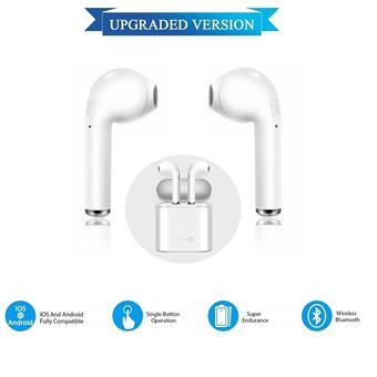Auriculares Bluetooth I7-MINI Klack compatible iPhone Samsung Huawei, Universal