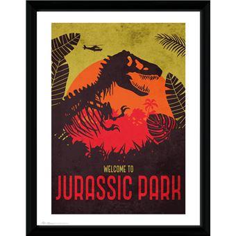 Fotografía Enmarcada Jurassic Park Silhouette