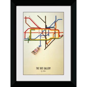Fotografia enmarcada Transport For London Tate 60x80cm