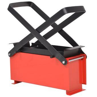 Prensa para hacer briquetas con papel vidaXL, 34x14x14 cm acero