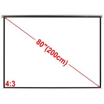 Pantalla Proyección Manual 160 X123 Cm Blanco Opaco 4:3