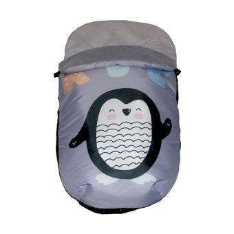 Saco Polar Pekebaby Grupo 0 Impermeable Penguin Gris