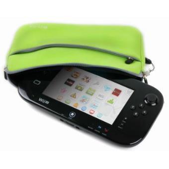 Funda Protectora Verde Lima Para Consola WiiU - Con Bolsillo Externo Y Cuerda De Quita Y Pon - Hecha En Neopreno De Alta Calidad Por DURAGADGET