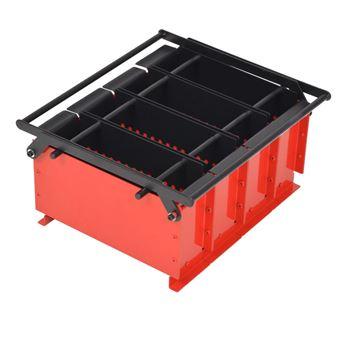 Prensa para hacer briquetas con papel vidaXL, 38x31x18 cm acero