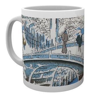 Taza Hiroshige El puente-tambor de Meguro